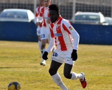 Nathaniel Asamoah in action for Red Star Belgrade~1